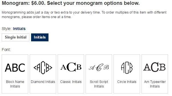 land end monogram types