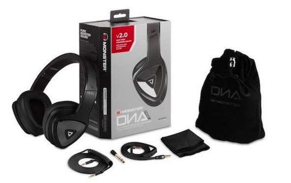 Monster DNA Pro 2.o over-ear headphones with box and accessories