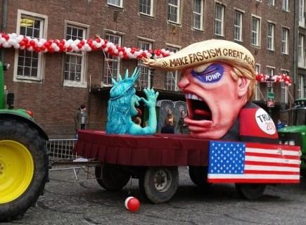 Trump Float at Dusseldorf Karneval