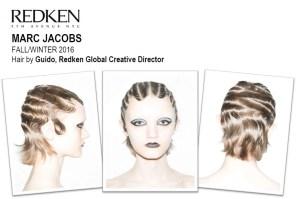 Backstage Beauty Marc Jacobs Hair Look A/W 2016 @Redken5thAvenue, #FashionWeek, #NYFW
