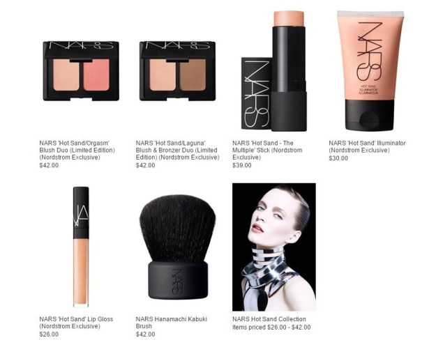 nars hot sand collection with prices
