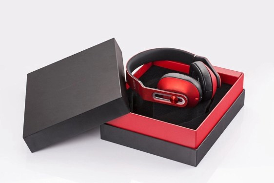 1More over the ear headphones in the box in red