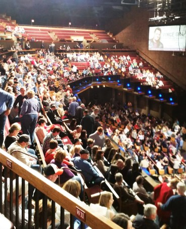 a view of the audience at the Gran Ole Opry, Opryland