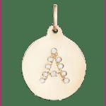 Helen Fiacalora alphabet charm with diamonds