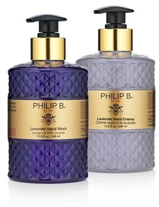 philip b hand wash and body creme in lavender