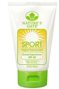 Natures Gate sunscreen SPORT SPF 50