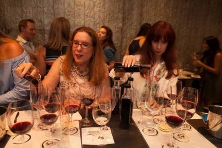 candice and alison blend wines at a noble vines event wines