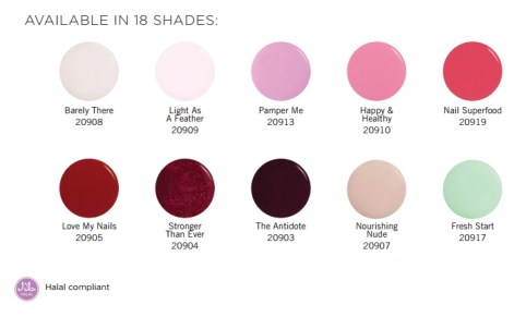 COLOR SWATCHES ORLY BREATHABLE nail polish beauty