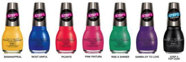 SInful Colors Nial Plish 2 Step Maincure with Gel Tech Formula Rio Flare Collection