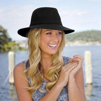wallaroo Hat Victoria Fedora packabe hat UPF 50+