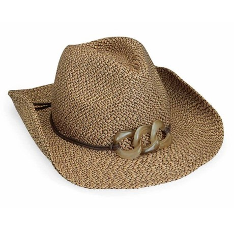 Walleroo hat Sierra UPF 50+ in mixed brown