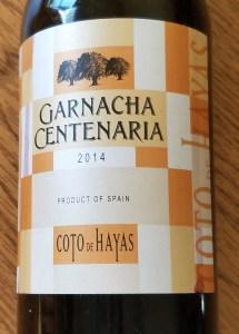 garanacha wine Centanaria