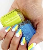 """Summer's Not Over Yet: DIY Essie's """"beach day neon"""" nail art look @Essie #EssieLove"""