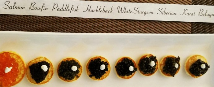 Olma caviar tasting platter