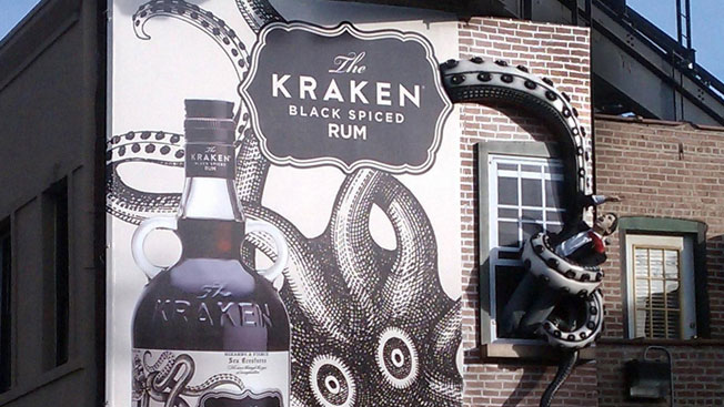 Black Dog Wallpaper Kraken Rum Billboards Will Kidnap You And Squeeze You To