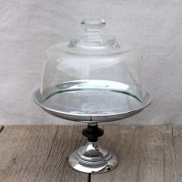 Glass Dome Covered Cake Plate - ae creative