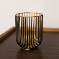 Small wire hurricane candle holder - ae creative