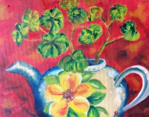 Teapot,  Oil on stretched canvas 6