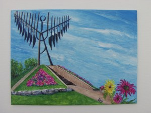 Blooms in Barrie, Ontario, acrylic painting