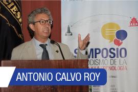 Antonio Calvo participó en Quito en el Simposio Periodismo de la Ciencia y la Tecnología. Foto: Gobierno Ecuador.