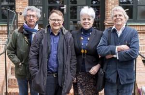 El 24 de marzo de 2018 fue elegida nueva junta directiva de la EUSJA. De izquierda a derecha: Antonio Calvo, secretario honorario; Jens Degett, presidente; Marina Huzvarova, vicepresidenta; y Kaianders Sempler, tesorero honorario
