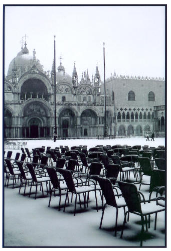 Piazza Under Snow