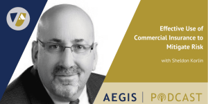 The AEGIS Podcast: Interview with Sheldon Korlin: Effective Use of Commercial Insurance to Mitigate Risk