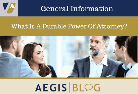 What Is A Durable Power Of Attorney