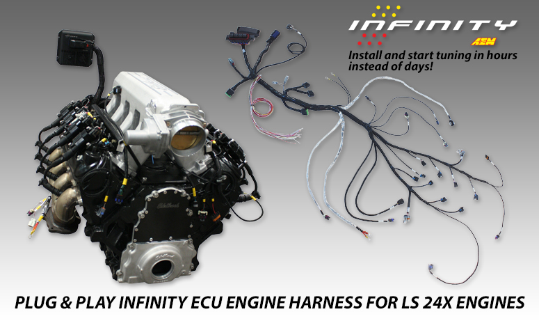 GM LS 24x Plug  Play Engine Wiring Harness for Infinity ECU AEM