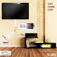 TV Cable Management Organizer Raceway Wire Cover for A/V ...
