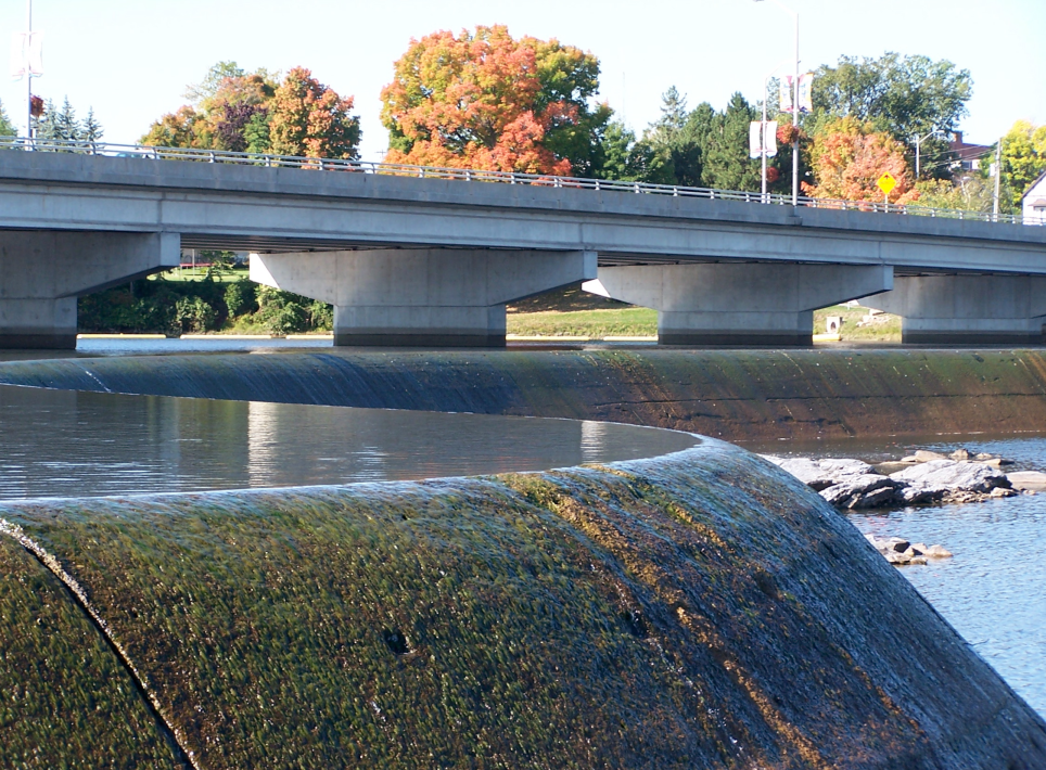 Closeup of weir with interesting angles.