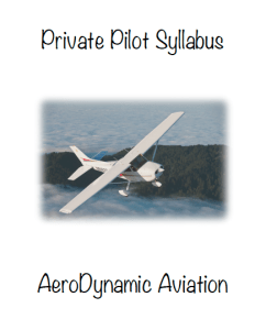 Cessna syllabus, private pilot syllabus, sport pilot syllabus, flight training, pilot license