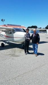 C172, monterey, flight training