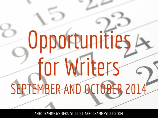 Opportunities for Writers September and October 2014