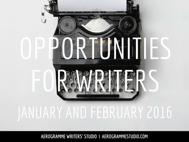 Opportunities for Writers January and February 2016