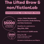 $5000 Experimental Non-Fiction Prize: Entries Close 29 May