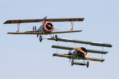© Adam Duffield • Duxford Air Show 2012 • Duxford Airfield, UK • DR-1 Triplane and Scout Replica