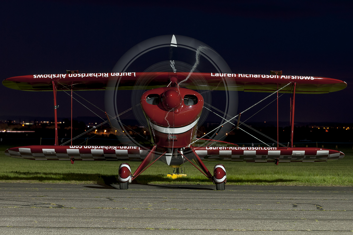© Duncan Monk - Pitts S-1S G-BKDR - Abingdon Nightshoot 2016