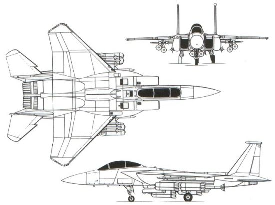 F 15 Fighter Jet Diagram
