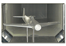 1/10th scale Bearcat F8F-1 wind tunnel model in Naval Academy wind tunnel