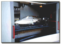 Aluminum wind tunnel model fuselage.