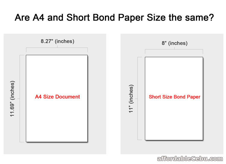 Is A4 and Short Bond Paper The Same? - Computers, Tricks, Tips 30595