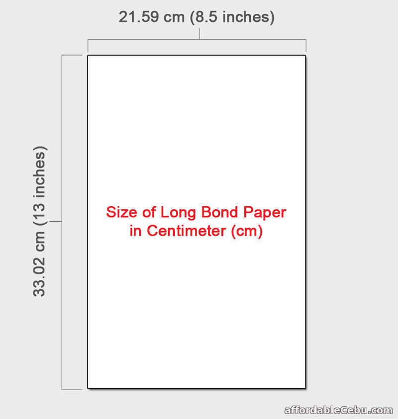 Size of Long Bond Paper in Microsoft Word in cm? - Computers, Tricks