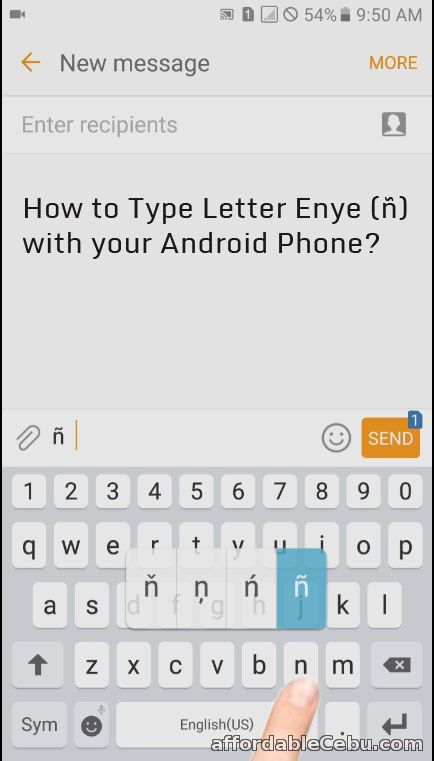 How to Type Letter Enye - ñ with Android Phone? - Mobile Phones 30319