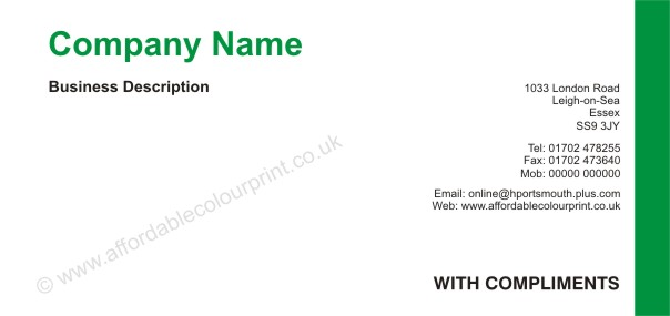 Compliment Slip Template Create A New Document For The Comp Slip