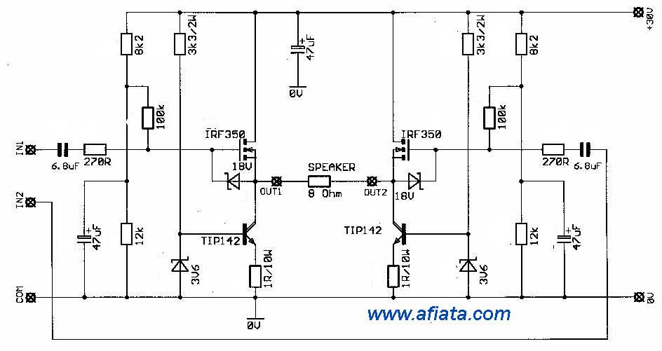mosfet audio amp circuit