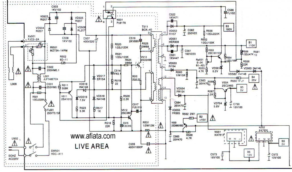 lcd tv power supply circuit diagram electronic design