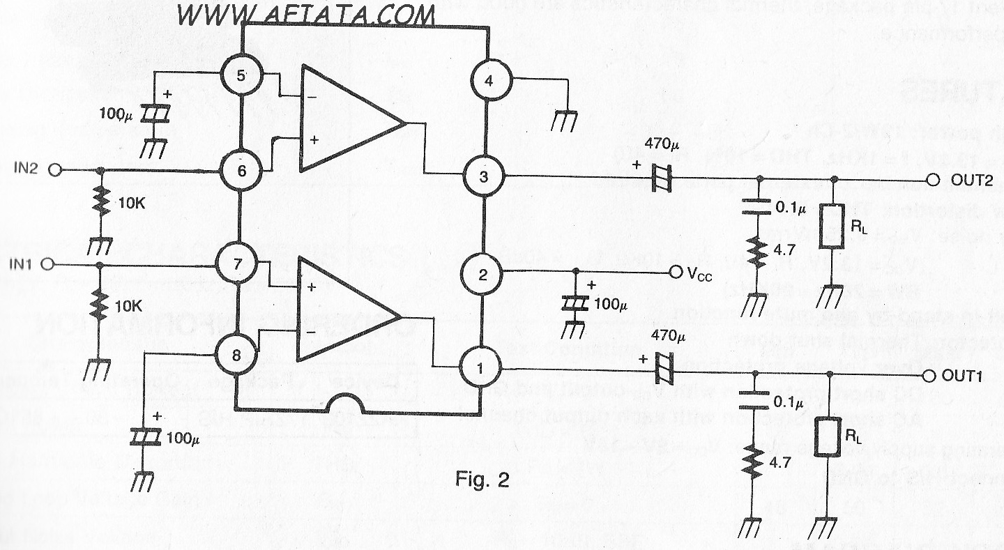 audio amplifier circuit using tda2007