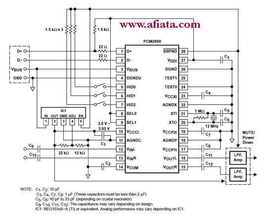 usb controller circuit with pcm2902