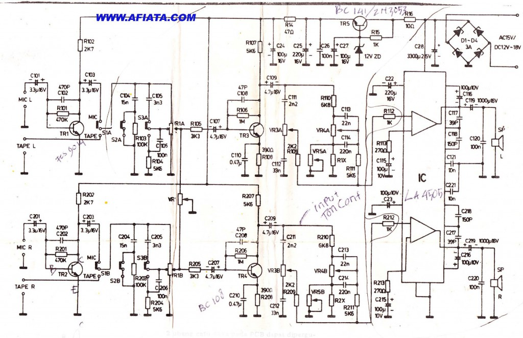 dual pre power amplifier volume controller and dc motor